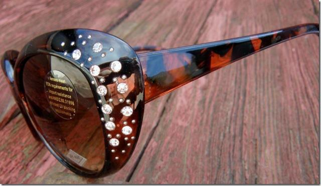 COWGIRL STYLE SUNGLASSES Rhinestone Brown Western Sunglasses