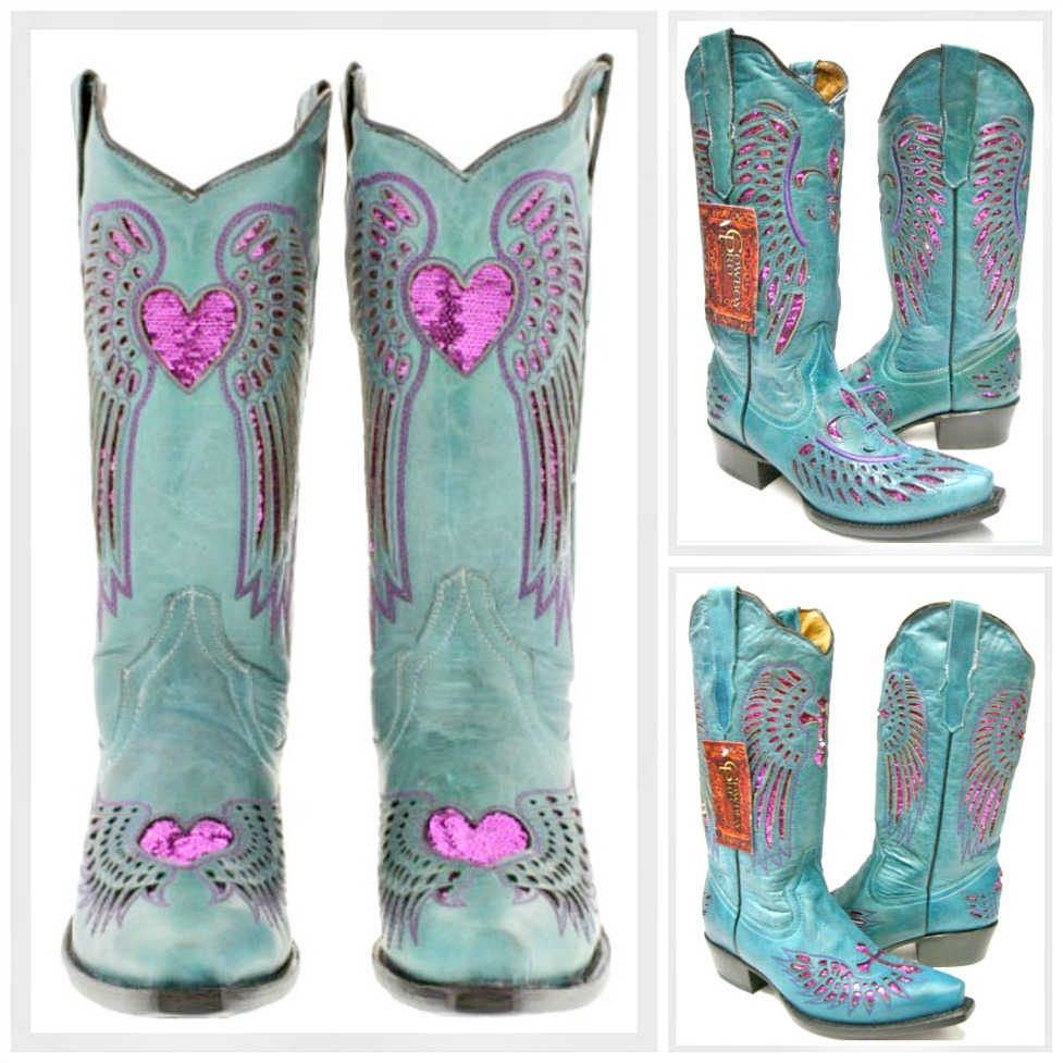 COWGIRL SEQUIN BOOTS Fuchsia Pink Sequin Turquoise Genuine Leather Cowgirl Boots  Snip or Square Toe