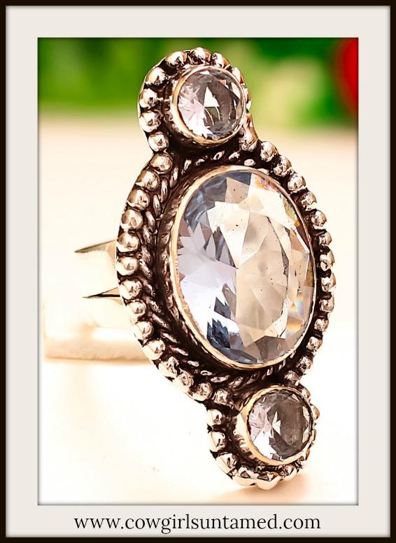 COWGIRL GYPSY RING Tanzanite Quartz Gemstone 925 Sterling Silver Ring