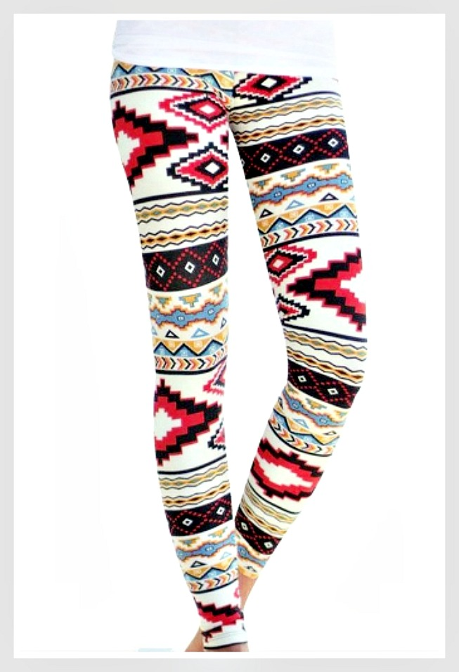 WESTERN COWGIRL LEGGINGS Tribal Aztec Print Stretchy Leggings LAST PAIR!
