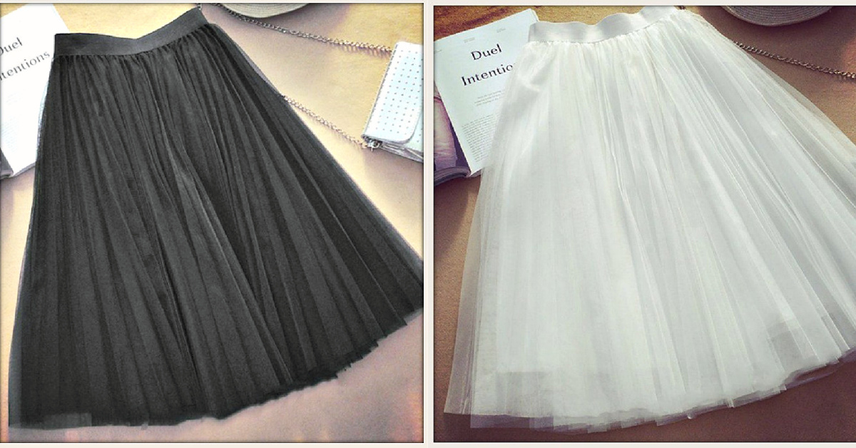 COWGIRL GLAM SKIRT Layered Tulle high Waist Midi Skirt  2 COLORS!!!