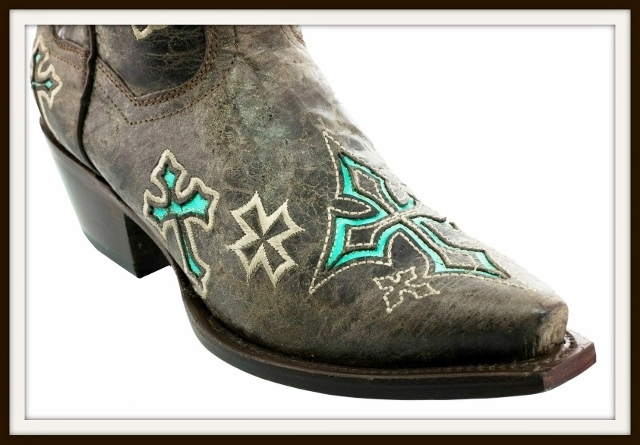 6e2daa41ae8 RODEO REBEL BOOTS Turquoise N Brown GENUINE LEATHER with Cross Cowgirl  Boots, cream, embroidered, rodeo, rebel, cowgirl, cowgirl boots, cowboy  boots, ...