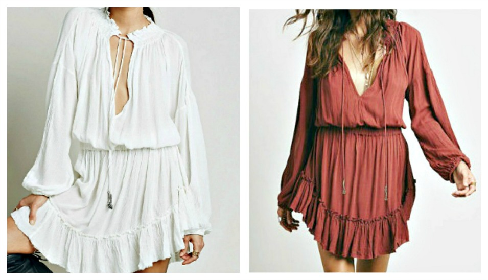 WILDFLOWER DRESS Ruffle Long Bell Sleeve Boho Mini Dress  2 COLORS! ONLY 3 LEFT!