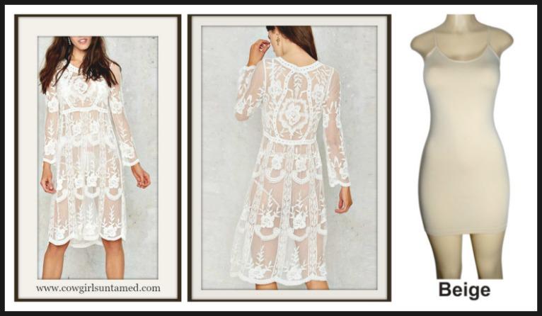 White Crochet Lace Long Sleeve Dress Beach Dress Sexy