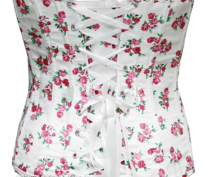 Western Cowgirl Rocker White Pink Floral Denim Lace Up