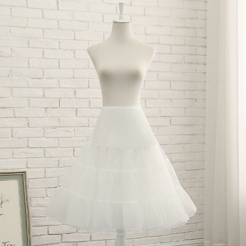 "COWGIRL PETTICOAT White 2 Layer 3 Tiered Tulle Petticoat w/ Slip 25"" Long LAST ONE S/M"
