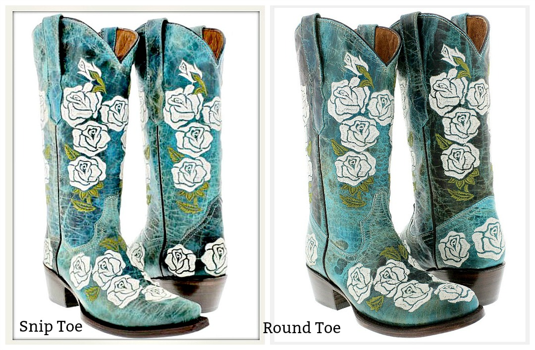 COWGIRL GYPSY BOOTS Embroidered White Rose Round or Snip Toe GENUINE TURQUOISE LEATHER Boots SIZES 5.5-10