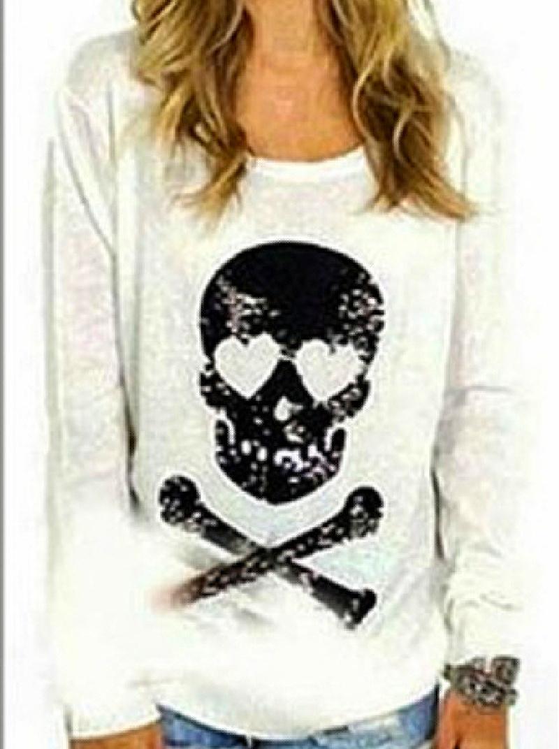 WILDFOX SWEATER Black Sequin Skull N' Crossbones on Slouchy Knit Fur Designer Sweater ONLY 2 LEFT L/XL!