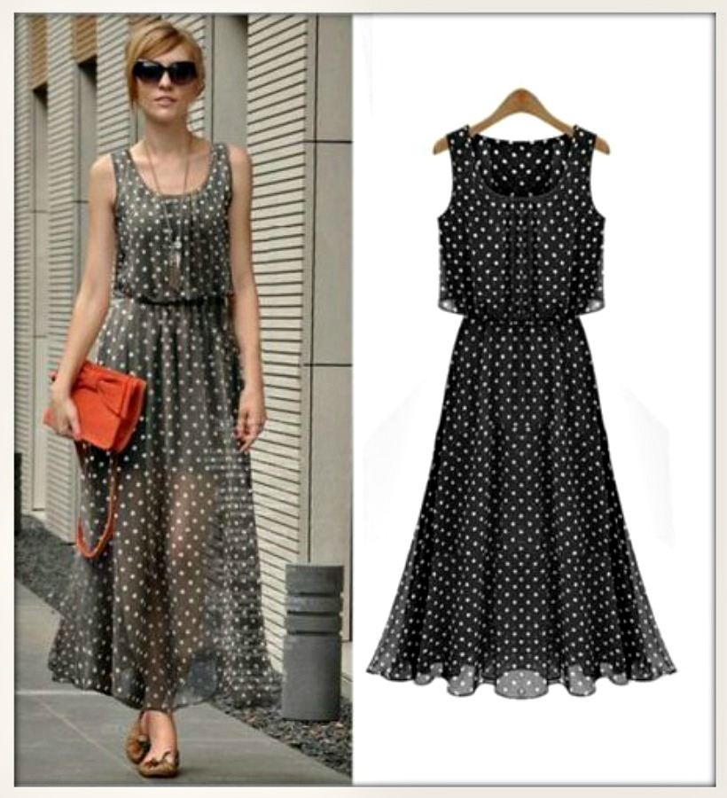 THE  NICOLE DRESS Polka Dot Flounce Semi Sheer Summer Dress  2 COLORS!