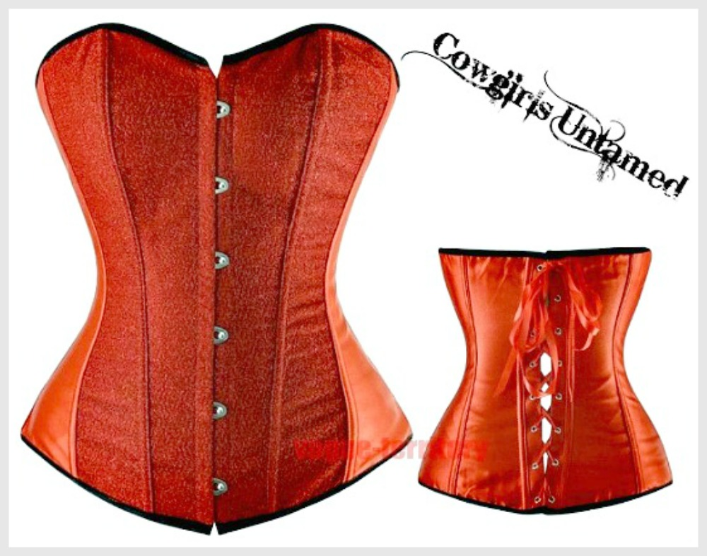 HOLIDAY CORSET - Red Glitter Lace Up Back Boned Corset Top