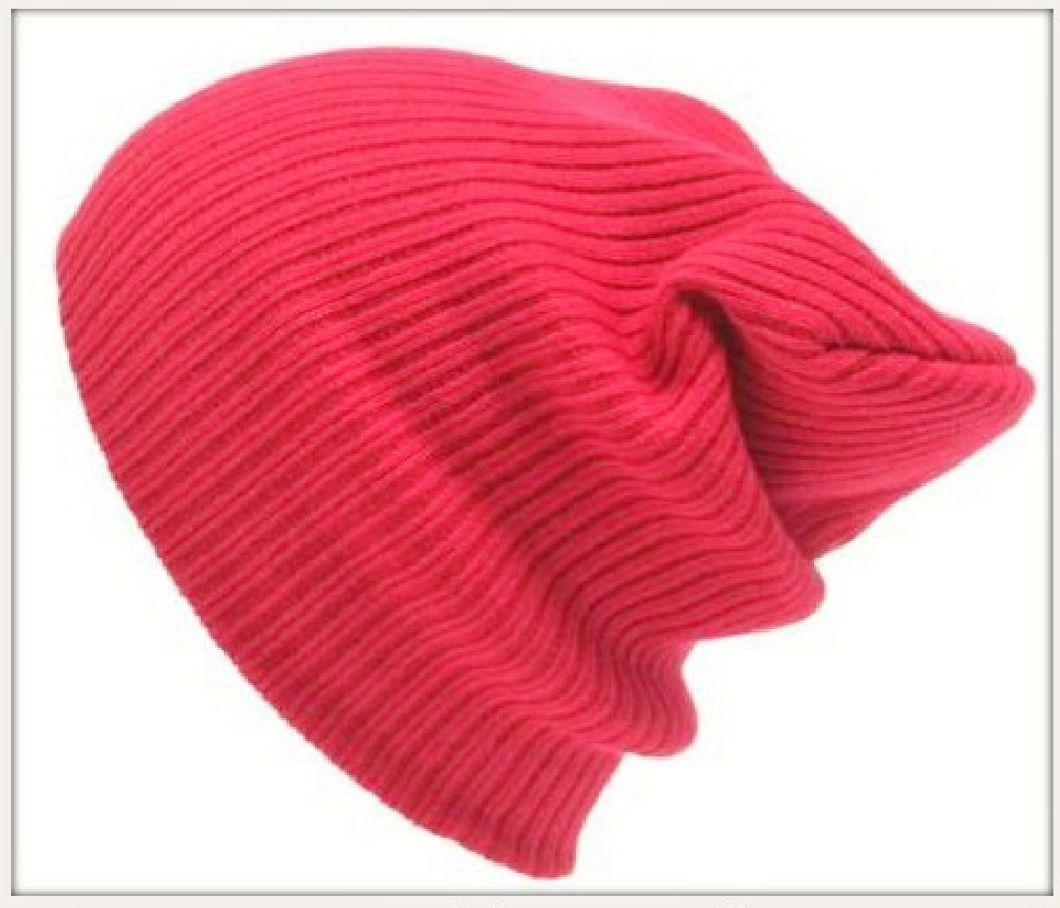 BEANIE CAP  Unisex Red Slouch Winter Knit Beanie Hat